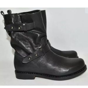 Rag & Bone Motorcycle Black Leather Boots Size 8